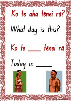 The Maori language resource includes a question and answer speaking frame chart as well as the names of the week cards. Maori Songs, Waitangi Day, Free Kids Books, Teachers Aide, Australian Curriculum, Kids Songs, Childhood Education, Teaching Resources, Teaching Ideas