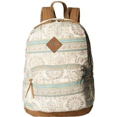 O'Neill Shoreline Backpack (Naked) Backpack Bags ($38) ❤ liked on Polyvore featuring bags, backpacks, pink backpack, logo backpacks, pouch bag, laptop rucksack and multi pocket backpack