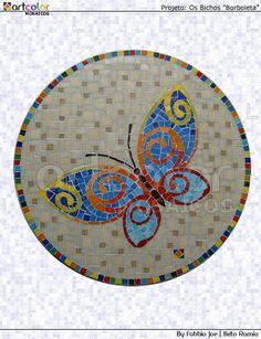 Mosaico - Borboleta by Artcolor mosaicos - Beto Romio & Fabbio Joe, via Flickr