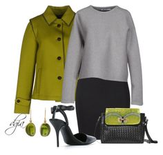 """""""Annabellerockz, green bells-bag and Alexander Wang top,skirt and pumps."""" by dgia ❤ liked on Polyvore featuring Jamie Joseph, Schneiders, T By Alexander Wang and Alexander Wang"""