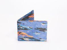 Wallet Set Tyvek Print Pattern Handmade CrispyWallet Whale camouflage