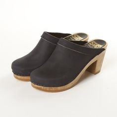 Plain Clog Leather Collar High Heel | High Heel Clogs, Clogs for Women | Sven Comfort Shoes