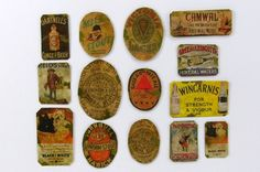 Individual metal advertising signs for Ginger Beer, Stout, 'Black & White' Whisky etc.
