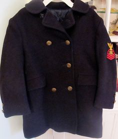Vintage Peacoat Kids 4/5 by lishyloo on Etsy, $65.00