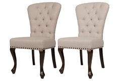 Harlow Dining Chair, Pair on OneKingsLane.com