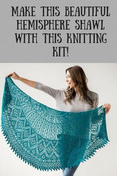 Beautiful shawl knitting kit with ultra soft merino wool. Show off your knitting skills with this beautiful shawl. Beginner Knitting Projects, Easy Knitting, Knitting For Beginners, Knitting Socks, Knitting Stitches, Crochet Projects, Knitting Patterns, Crochet Patterns, Knitting Humor