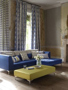 @clarkeandclarke Camelia and Giovanni fabric from the Traviata range - available from Rodgers of York #fabric #curtains #interiors