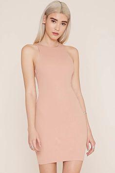 V-Back Bodycon Dress #thelatest