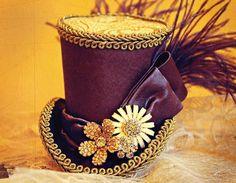 Feminine Mad Hatter Mini Top Hat