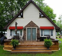 Window and Door Awnings - Jamestown Awning and Party Tents Canvas Awnings, Porch Doors, Color Splash, Cabin, Windows, Tents, Eyebrow, House Styles, Party