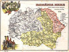 """Putini romani stiu sa explice de ce tara lor se numeste Romania sau de ce ei sunt romani. Numele de """"România"""" vine de etnonimul """"român"""" şi de la numele Ţării Româneşti, provincia la sud de Carpaţi care datează din Evul Mediu, din secolul al XIV-lea. Istoricii spun că numele """"România"""" era menţionat neoficial în ziarele … History Of Romania, Tumblr Cartoon, Romania Travel, Vintage Maps, Grid, Bun Bun, Moldova, Travelling, Knowledge"""
