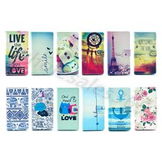 Multi-Coloured Faux PU Leather Stand Rubber Card Case Cover Flip For Smart Phone #UnbrandedGeneric #MediaStandFlipMagnetic