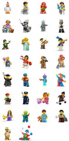 LEGO Minifigures Facebook Stickers - Pegatinas Emoticon