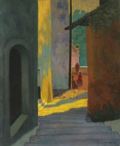 Félix Vallotton, Old Street in Cagnes, Sunset on ArtStack #felix-vallotton #art
