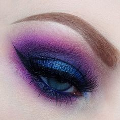 Deep purple smokey eyeshadow @ nicola_kate