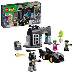 LEGO-La Batcave Duplo DC Comics Super Heroes Jeux de Construction 10919 Multicolore Dc Comics, Batman Robin, Building Toys For Toddlers, Batman Batcave, Joker Batman, Batman Logo, Lego Batman, Batmobile Toy, Gotham City
