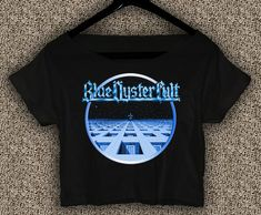 New+Blue+Oyster+Cult+Album+T-shirt+Blue+Oyster+Cult+Crop+Top+Blue+Oyster+Cult+Crop+Tee+BOC#01