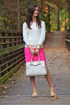 Sweater and pencil skirt combo (could even do over a dress) For All Things Lovely: jcrew, h, michael kors