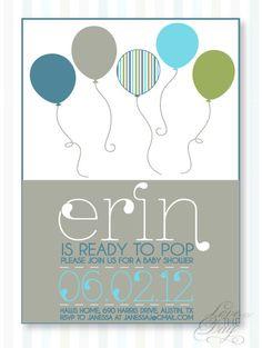 Ready To Pop Baby Shower PRINTABLE Custom Invitation by lovetheday, $18.00