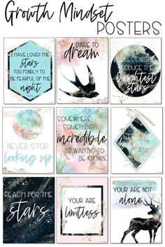 Cosmic Galaxy Classroom Decor: GROWTH MINDSET POSTERS - You are in the right place about shutters repurposed christmas Here we offer you the most beautifu - Growth Mindset Classroom, Growth Mindset Activities, Growth Mindset Posters, Classroom Design, Classroom Themes, Porch Wall Decor, Old Bookcase, Romantic Room, Unique Wallpaper