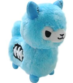 Tasty Peach Studios — Zombie Alpaca Plush - Blue BACKORDER