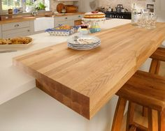 We're going to have a breakfast bar attached to worktop like this...