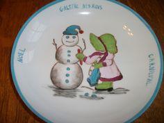 assiette et gobelet enfant peints main sur porcelaine : Art céramique par porcelaine-amalexan