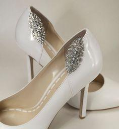Great Gatsby crystal bridal shoe clips, Art Deco wedding shoe clips, shoe jewelry, rhinestone shoe embellishments, bridal shoes