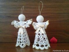 Handmade by Ecola & Dana Art - Aniołki 2015 Beach Cottage Style, Crochet Earrings, Handmade, Diy, Hand Made, Bricolage, Do It Yourself, Homemade, Diys