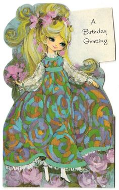 "****Seller is away for vacation June 25 - July paid for after June 24 will ship on July Greeting CardBi-foldUsed/Signed on the back"" American Greetings ""Dated x m. Vintage Birthday Cards, Vintage Greeting Cards, Vintage Ephemera, Birthday Greeting Cards, Birthday Greetings, Vintage Postcards, Vintage Images, Card Birthday, Christmas Greetings"