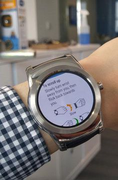 Android Wear has wrist-gesture controls