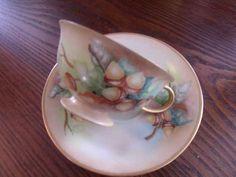 Hand painted acorns on tea cup (found on eBay long ago).