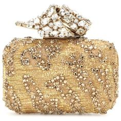 Jimmy Choo Memento Cloud Crystal-Embellished Box Clutch ($3,730) ❤ liked on Polyvore featuring bags, handbags, clutches, gold, gold clutches, jimmy choo handbags, beige clutches, beige purse and beige handbags
