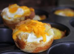 Toast and Egg Cups. Perfect handheld breakfast idea for my picky toddler.