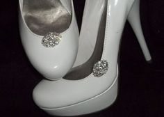 Bridal Shoe Clips  set of 2  Sparkling Crystal by ShoeClipsOnly, $24.00