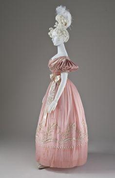 Woman's Dress England, circa 1830