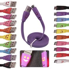 #USB CHARGER SMILE Lucu & Menarik, Tersedia pilihan warna