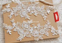 Hey, I found this really awesome Etsy listing at https://www.etsy.com/listing/153980794/ivory-alencon-lace-appliques-embroidered