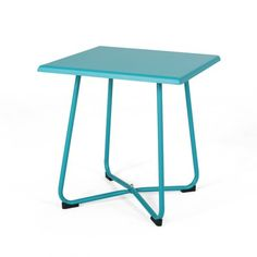 Get your outdoor space perked up in a modern appeal with this side table. Boasts an asymmetrical and subtle design, this table is a statement piece in and of! Fashioned out of durable materials, it is intended to stand the test of time. Give it a try, and you'll cherish it for many more years to come.Product Features:Frame finish: tealHand-crafted detailsLight assembly requiredFeatures a steel frame and symmetrical design with its bold, straight legs and clean linesComes with an enclosed base, l Metal Outdoor Side Table, Patio Side Table, Modern Side Table, Table Frame, Modern Patio, Deck Furniture, Furniture Ideas, Dining Room Bar, Christopher Knight