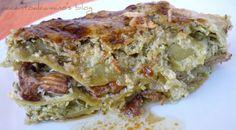 Lasagne con zucchine e finferli (Lasagna with zucchini and chanterelles)