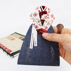 Korean costume, Traditional Korean dress, Hanbok,cards,letters, by Korea   kollectionk Macramé Art, Korean Crafts, Korean Traditional Dress, Traditional Clothes, Diy And Crafts, Arts And Crafts, Korean Design, Cute Pens, Paper Crafts Origami