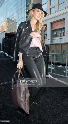 Model Candice Swanepoel attends Fall 2014 Mercedes - Benz Fashion Week on  February 6 d4de36fdf08