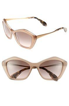 210e676a1da Miu Miu Angled Sunglasses Pink Gradient One Size