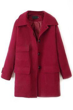 Relaxed Woolen Swing Coat