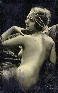 Sister Sweetly Vintage Reproduction Nude by Rosewaterelizebeth, $12.95