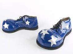 Clown Shoes Blue And Silver, Blue And White, Fairy Shoes, Clown Shoes, Vintage Clown, Clowning Around, Stella Mccartney Elyse, Clowns, Stars