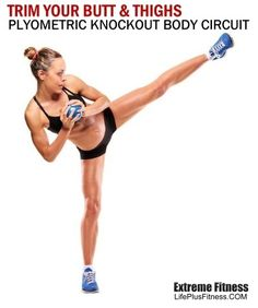 PLYOMETRIC KNOCKOUT BODY CIRCUIT. Blog with full workout programs. - Click image to find more Health & Fitness Pinterest pins