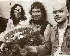 Pappo con Fito Paez y Luca Prodan.