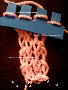 Cómo se teje en la tejedora de foami, microporoso o gomaeva - Inspiraciones: manualidades y reciclaje