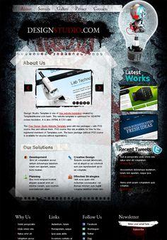 Free Website Template for Web Design Studio